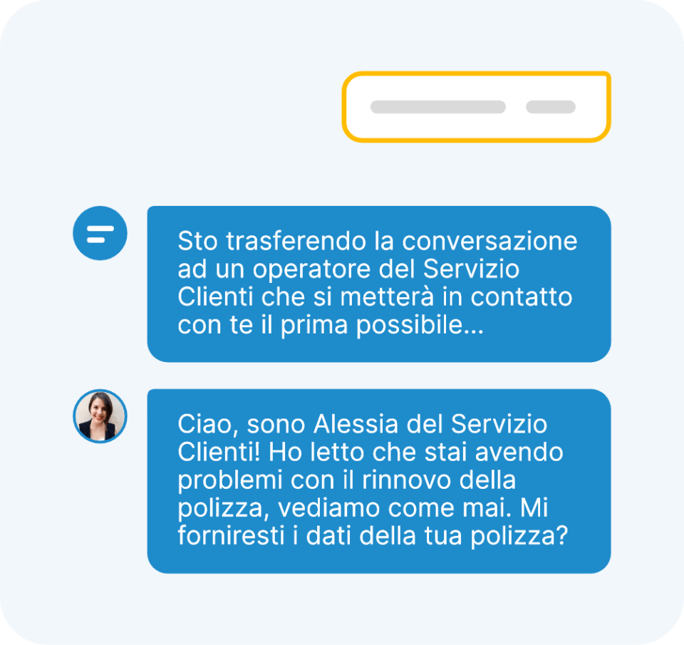 gestione efficace chat